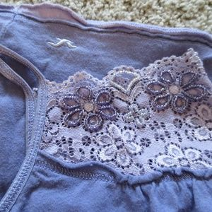 Hollister Lavender Lace & Beaded Bodice Tank Top